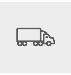 Delivery car thin line icon vector