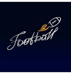 Logo template football club rugby the ball vector