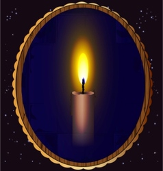 candle and mirror vector image