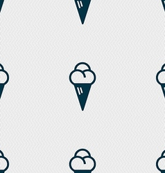 Ice cream icon sign seamless pattern with vector