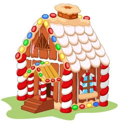 Cartoon gingerbread house vector