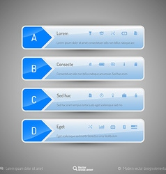 Modern tabs as design elements business symbols vector