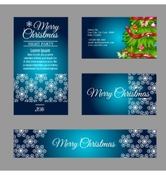 Four designer christmas business cards vector