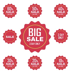 big sale label or tag vector image