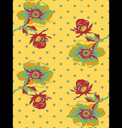Vintage wallpaper seamless rose flower pattern vector