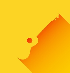 Ukulele background long shadow flat design vector image