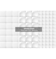 White upholstery textures seamless vector