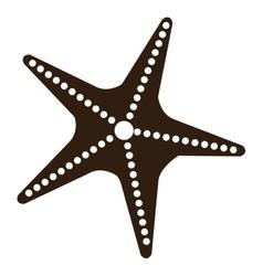 Black and white starfish graphic vector