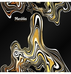 Black white and gold marble style abstract vector
