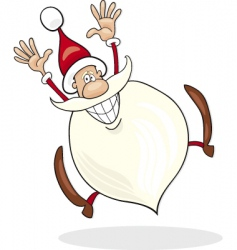 Santa Claus jump vector image