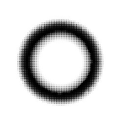 Abstract halftone circle ring background vector