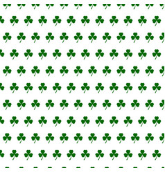 Abstract seamless white and green shamrock vector