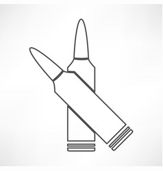 ammo weapon icon vector image