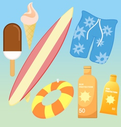 BEACH PACK vector image