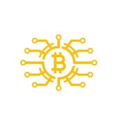 Bitcoin icon on white vector