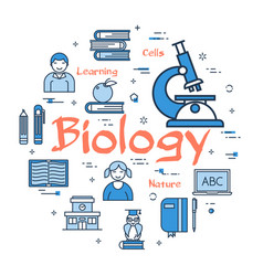blue concept with biology subject vector image