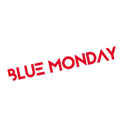 Blue monday rubber stamp vector