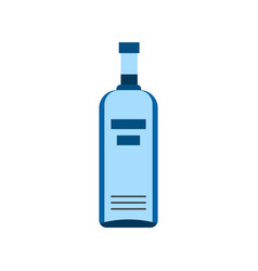 bottle of vodka icon flat style vector image