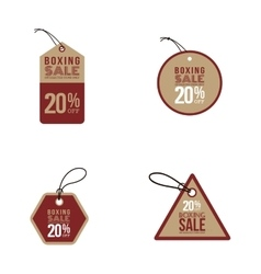 Boxing sale labels vector image vector image