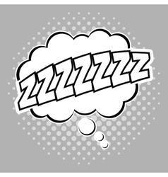 Bubble pop art of sleep design vector