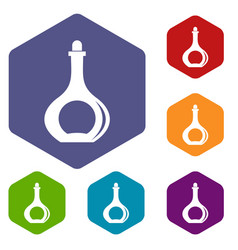 carafe icons set hexagon vector image vector image