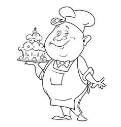 Cartoon image of chef vector