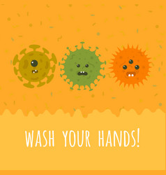cartoon microbes and text vector image vector image