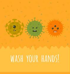 Cartoon microbes and text vector