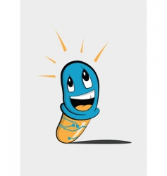 cartoon smart pill vector image
