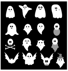 Cute little ghost vector image vector image