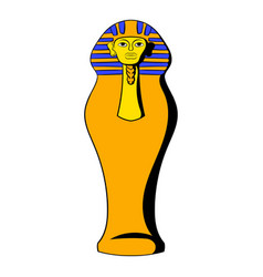 egyptian pharaoh sarcophagus icon cartoon vector image vector image