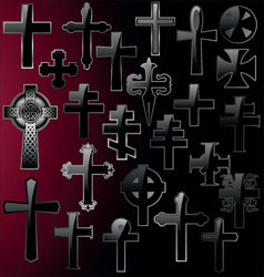 elegant cross - set vector image