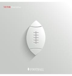 Football icon - white app button vector