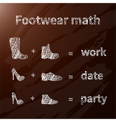 Footwear math vector