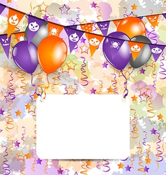Halloween decoration with greeting card vector