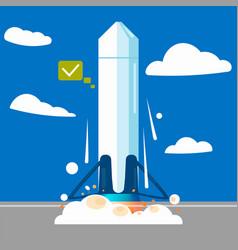 launching a rocket at a station vector image vector image