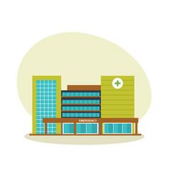 modern hospital building healthcare system vector image