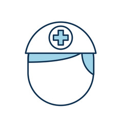 nurse avatar staff clinical people professional vector image