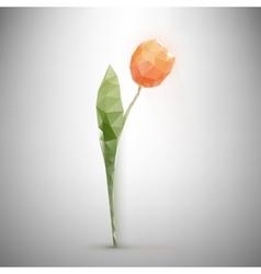 polygonal tulip vector image vector image