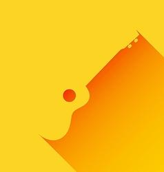 Ukulele background long shadow flat design vector