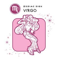 Virgo astrology sign vector