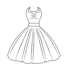 White fluffy wedding dress for a girl wedding vector