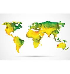 World Map Watercolor vector image