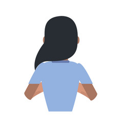 Young woman back vector