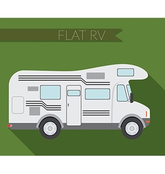 Flat design city transportation rv for travel and vector