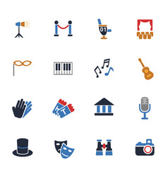 Theater icon set vector
