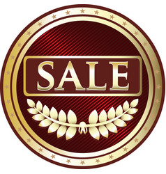 sale gold icon vector image