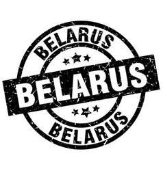 Belarus black round grunge stamp vector