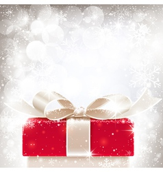 Christmas background with gift vector