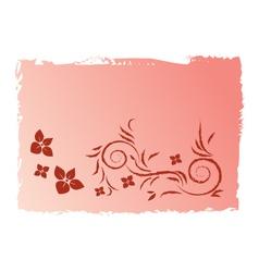 Pink swirl grunge background vector